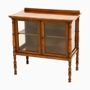 Antique Dutch Mahogany Tea Cabinet in the Style of Louis Philippe