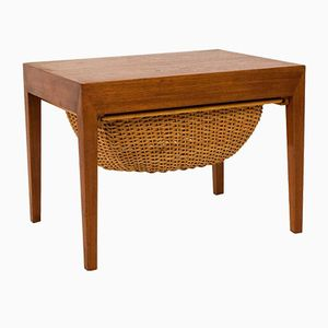 Mid-Century Modern Sewing Table by Severin Hansen for Haslev, 1950s
