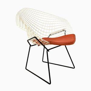 Zweifarbiger Mid-Century Diamond Chair von Harry Bertoia für Knoll, 1953