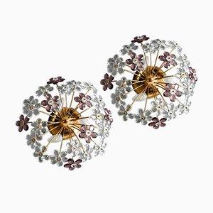 Florale Deckenlampen von Christoph Palme, 2er Set