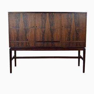 Danish Rosewood Bar Cabinet Sideboard, 1960s