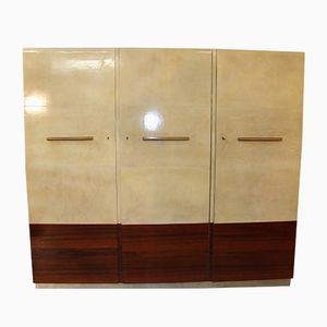 Parchment and Rosewood Art Deco Armoire, 1930s