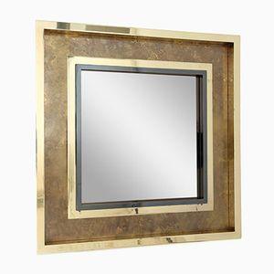 Miroir en Laiton Gravé par Maison Jansen