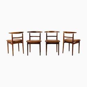 Mid-Century Modern Stühle von Helge Sibast für Sibast, 4er Set