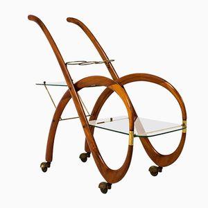 Mid-Century Modern Italian Bar Cart by Gaetano Pizzi, 1950s