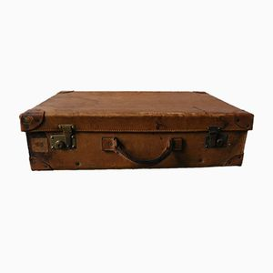 Vintage Swedish Leather Suitcase