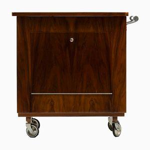 Art Deco Walnut Bar Cart