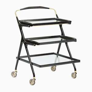 Three Tear Bar Cart by Cesare Lacca for Cassina