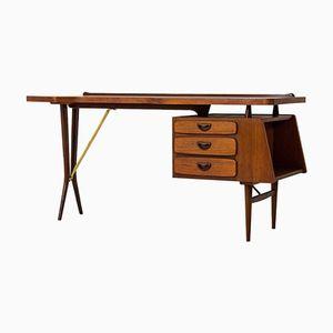 Mid-Century Modern Schreibtisch von Louis Van Teeffelen für Webe