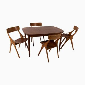 Mid-Century Modern Dining Room Set by Arne Hovmand-Olsen for Mogens Kold