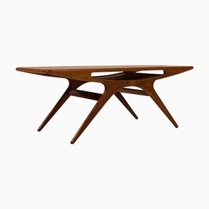 Vintage Smile Coffee Table by Johannes Andersen for CFC Silkeborg, 1950s