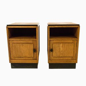Art Deco Hague School Night Stands, 1920s, Set of 2