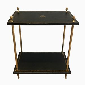 Gilded Leather Side Table from House Bagués