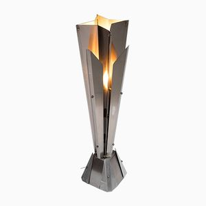Aluminum Plated Floor Lamp by F.A.P.E. for Studio Caspro Milano, 1970s