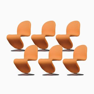 Chaises System 123 par Verner Panton pour Fritz Hansen, Set de 6