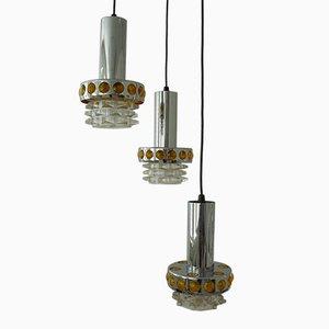 Dutch Triple Pendant Light from Raak Amsterdam, 1970s