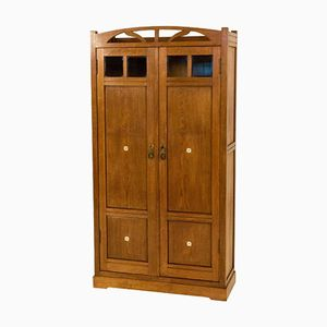 Dutch Arts & Crafts Armoire with Inlay, 1900s