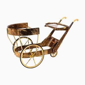 Italian Mid-Century Bar or Serving Cart by Aldo Tura