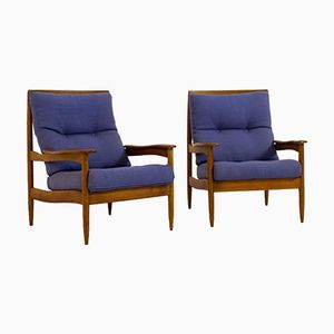 Mid-Century Danish Modern Lounge Chairs, 1960s, Set of 2