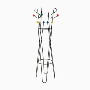 Mid-Century Modern French Iron Coat Stand by Roger Feraud