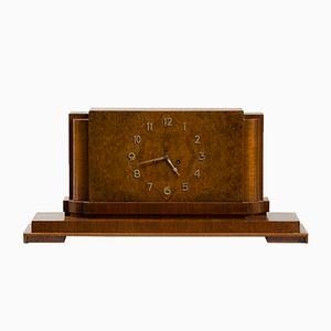 Art Deco Walnut Mantel Clock