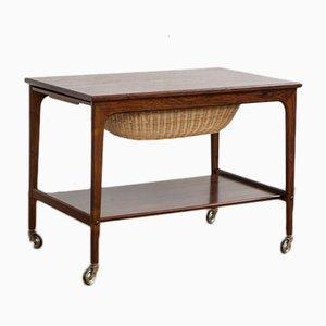 Danish Sewing Cart in Rosewood