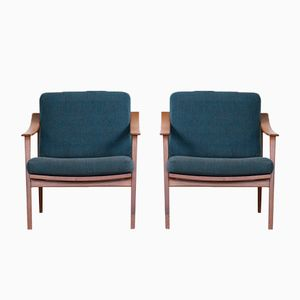 Swedish Easy Chairs in Teak, Set of 2