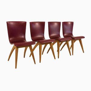 Chaises Mid-Century Swing par G.J.van Os Culemborg, Set de 4