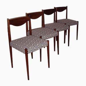 Buchenholz & Rio Palisander Esszimmerstühle von Baumann, 4er Set