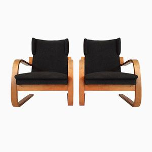 34/402 High Back Cantilever Wing Chairs by Alvar Aalto, Set of 2