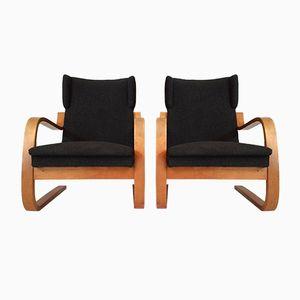 Fauteuils à Oreilles 34/402 Cantilever à Haut Dossier par Alvar Aalto, Set de 2