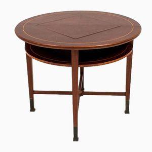 Antiker Mahagoni Arts & Crafts Spieltisch, 1900er