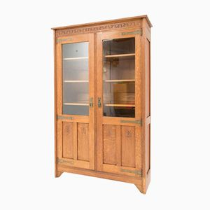 Antique Oak Arts & Crafts Dutch Bookcase, 1900s