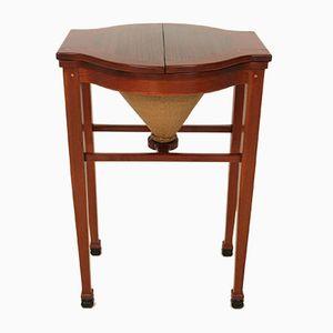 Art Nouveau Drop-Leaf Sewing Table by Jac Van Den Bosch