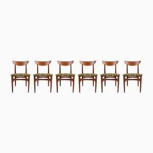 Mid-Century Solid Teak Chairs from A/S Skovby Møbelfabrik, Set of 6