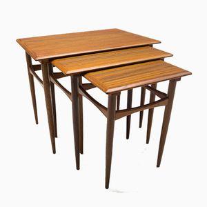Tables Gigognes Mid-Century Modernes en Teck, Danemark