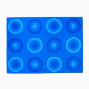 Blue Vintage Rug by Verner Panton for Mira-X