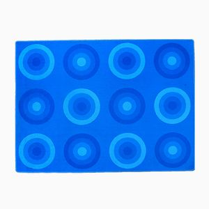Tapis Vintage Bleu par Verner Panton pour Mira-X