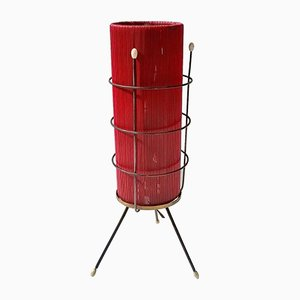 Italian Red Plastic Table Lamp, 1950s