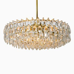 Large Glass Chandelier from Bakalowits and Sohne, 1950s