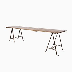 Vintage English Trestle Table