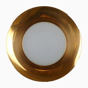 German Round Copper Sconce, 1960s