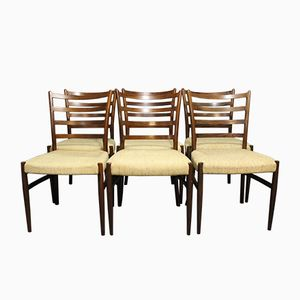 Rosewood Dining Chairs by N. O. Møller, 1960s, Set of 6