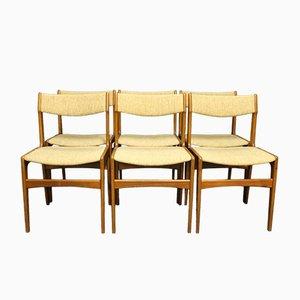 Teak Esszimmerstühle von Erik Buch, 1960er, 6er Set