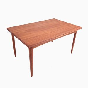 Vintage Teak Dining Table with Dutch Leaves