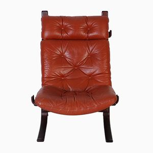 Vintage Leather Siesta Chair by Ingmar Relling for Westnofa