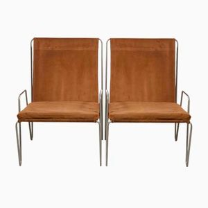 Mid-Century 'Bachelor' Armchairsby Verner Panton for Fritz Hansen, 1953, Set of 2