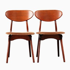 Vintage Chairs by Louis Van Teeffelen for WéBé, Set of 2