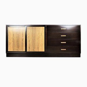 Large Dark Mahogany and Rosewood Dresser by Harvey Probber, 1960s