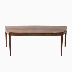 Coffee Table in Rosewood with Curved Edges for CFC Silkeborg, 1960s